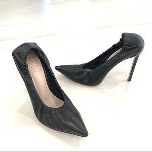 SCHUTZ stretchy leather heel